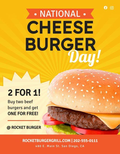 National Cheeseburger Day Flyer