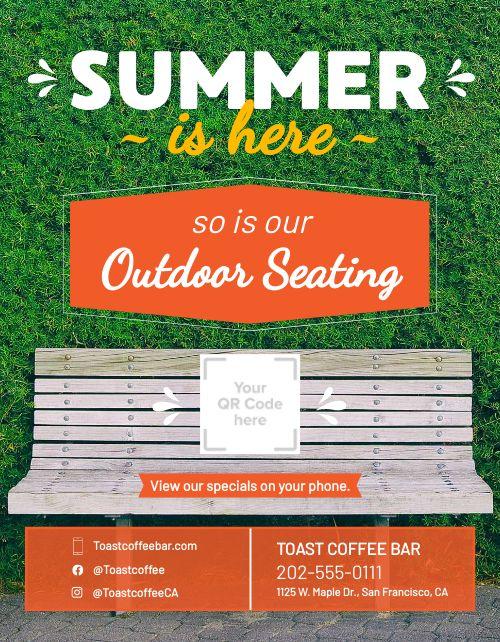 Summer Seating Signage