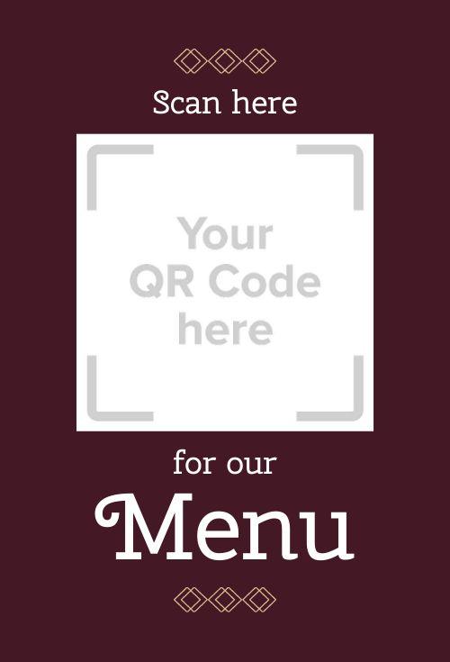 QR Code Menu Table Sign