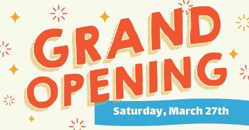 Grand Opening FB Post