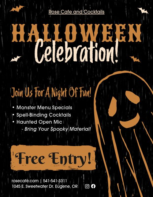 Halloween Celebration Sign