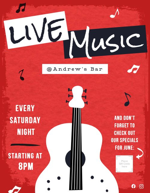 Live Music Bar Flyer