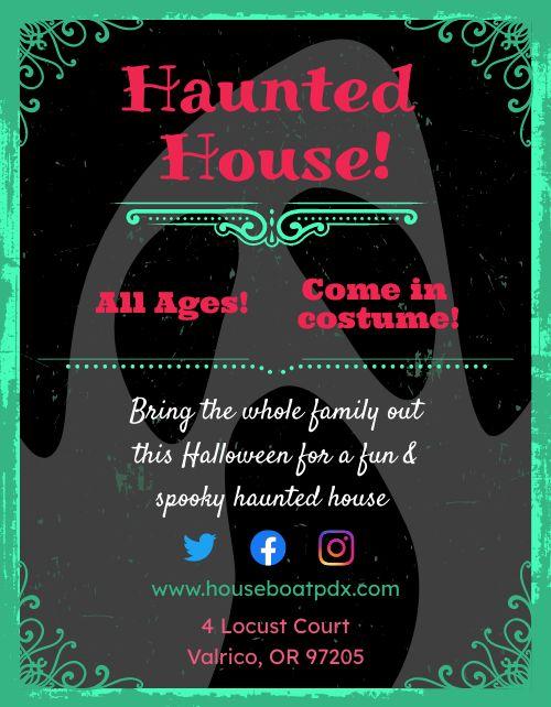 Halloween Haunted House Flyer