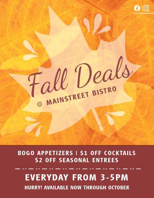 Autumn Restaurant Flyer