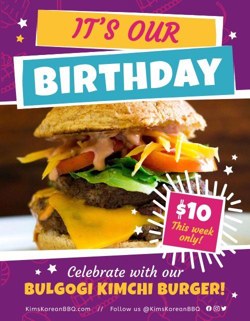 Restaurant Birthday Flyer