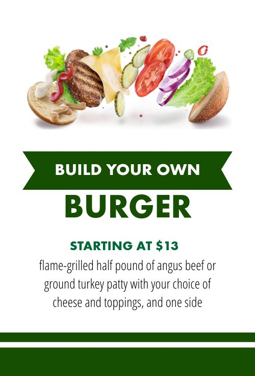 Burger Table Sign