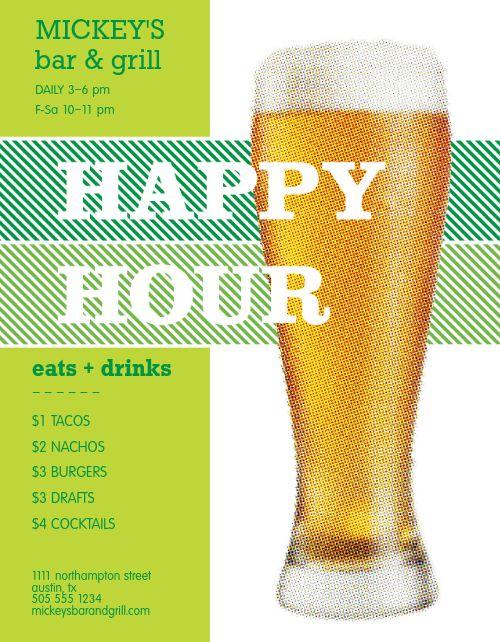 Bar Happy Hour Flyer
