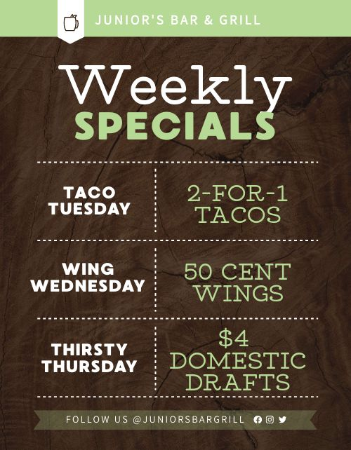 Weekly Specials Announcement