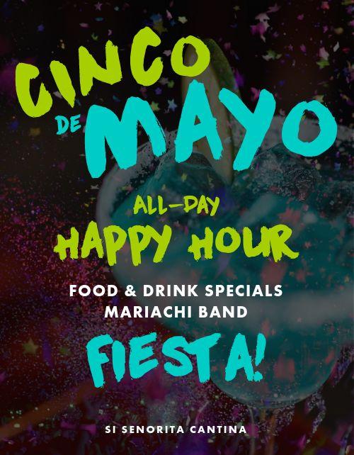 Cinco De Mayo Happy Hour Flyer