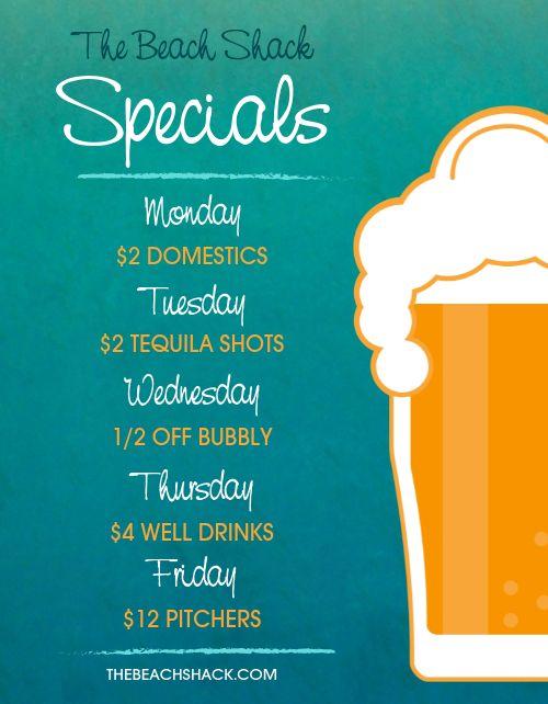 Bar Specials Flyer