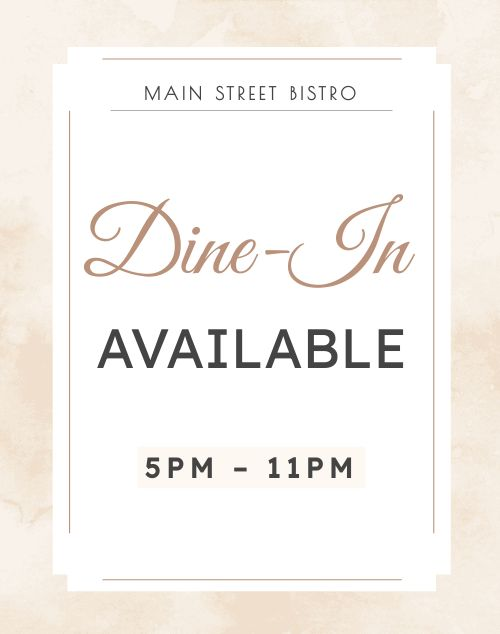 Dine In Available Poster