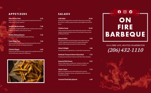 BBQ Dinner Takeout Menu
