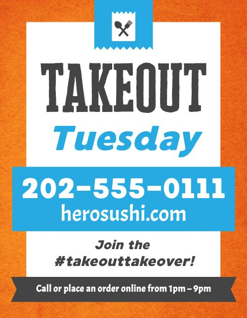 Takeout Movement Flyer