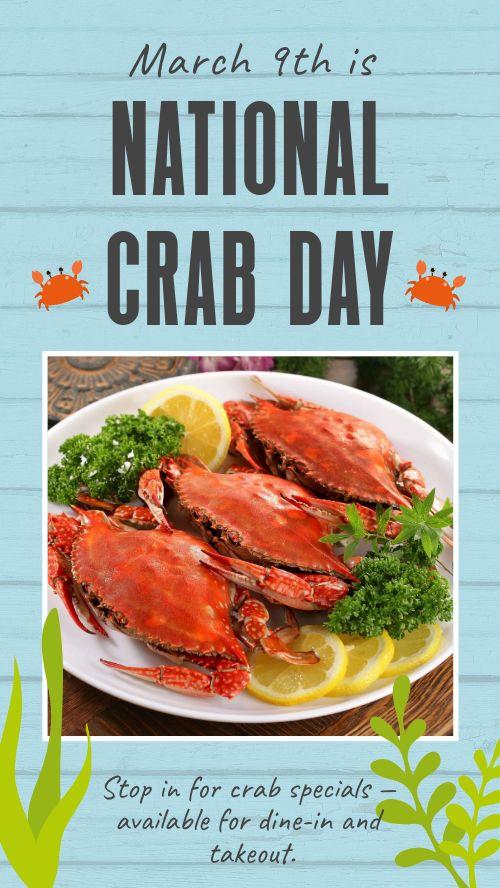 Crab Day Instagram Story