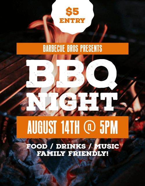 BBQ Night Flyer