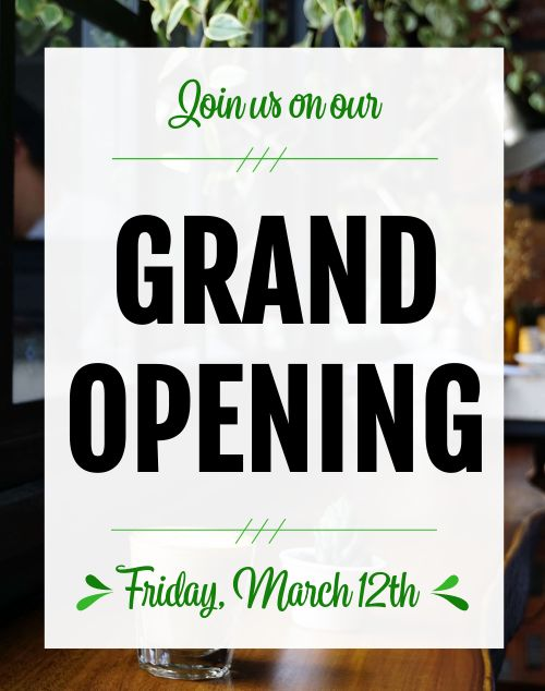 Cafe Grand Opening Poster