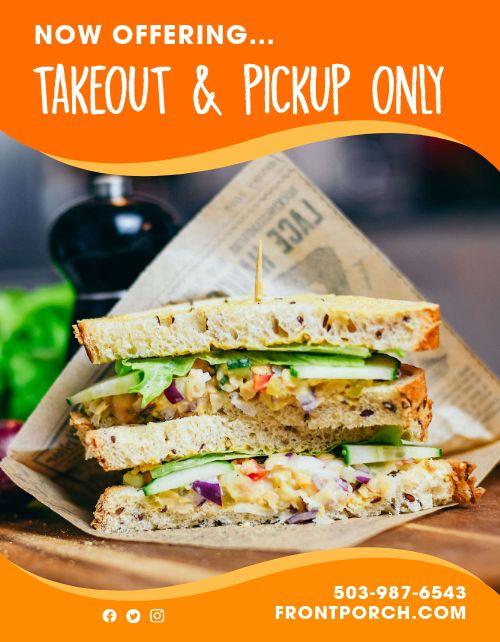 Sandwich Takeout Flyer