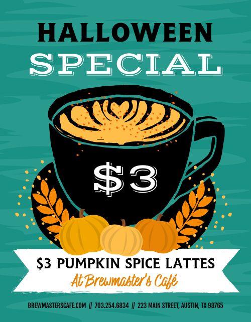 Halloween Latte Flyer