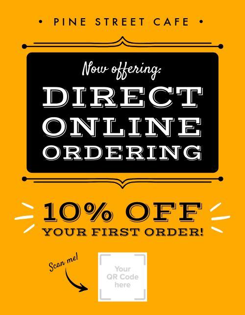 Direct Online Ordering Signage