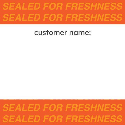 Customer Name Seal