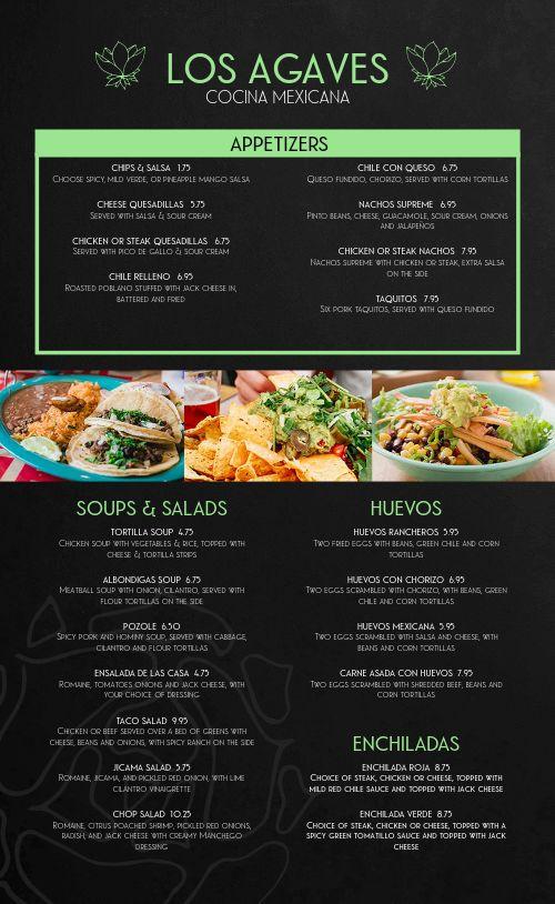 Elegant Mexican Menu