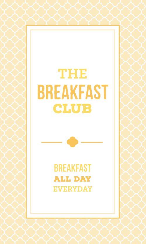 Breakfast Food Business Card