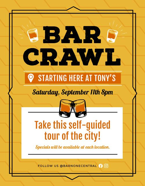 Bar Crawl Sign