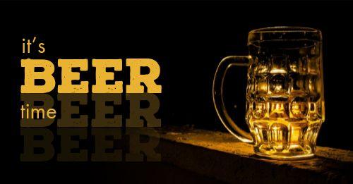Beer Time Facebook Post