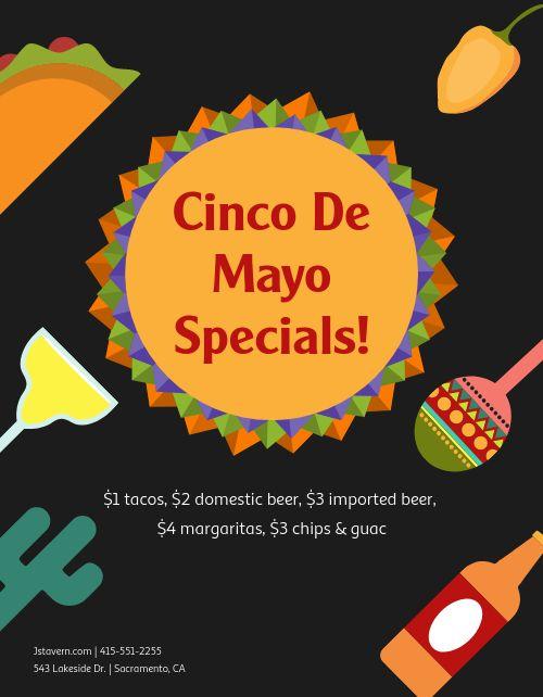 Cinco de Mayo Promotion Flyer