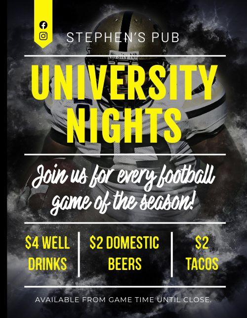 University Football Flyer