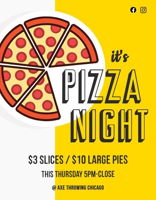 Pizza Night Restaurant Flyer
