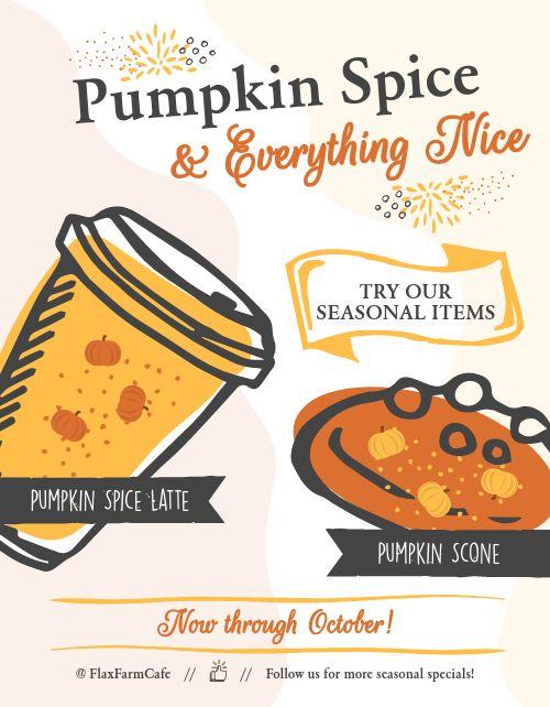 Pumpkin Cafe Flyer