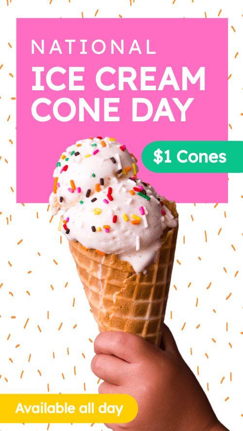 Ice Cream Instagram Story