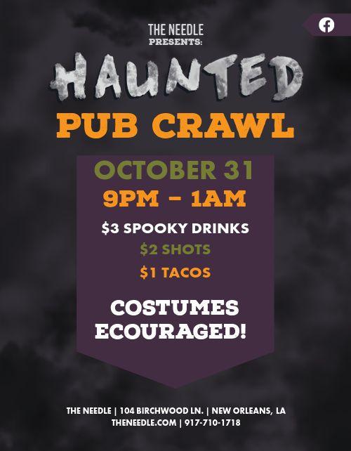 Haunted Pub Crawl Flyer