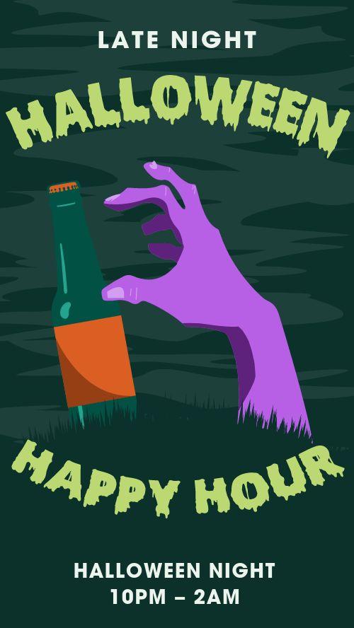 Halloween Happy Hour IG Story