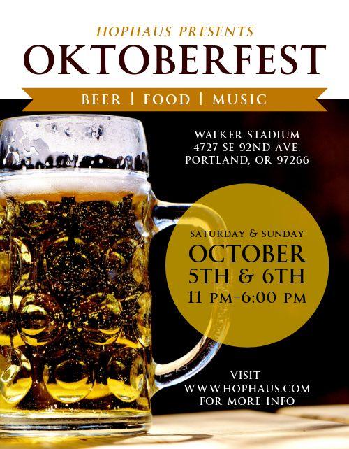 Oktoberfest Brew Flyer