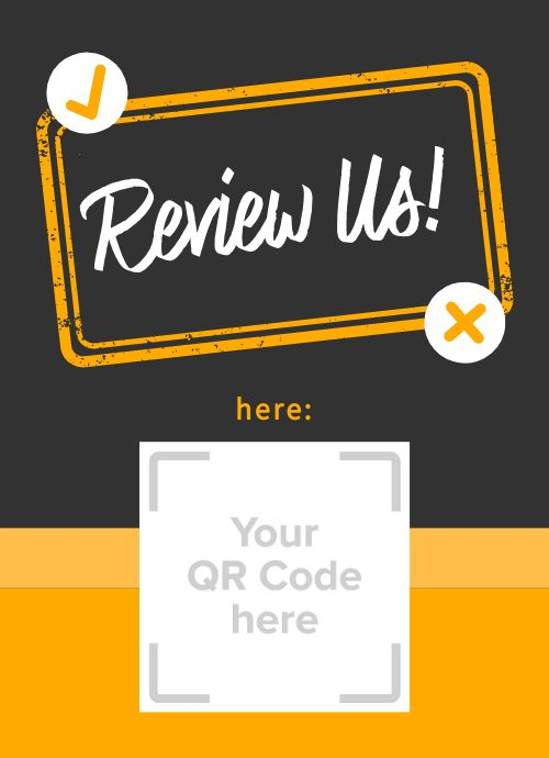 Review Us Tabletop Insert