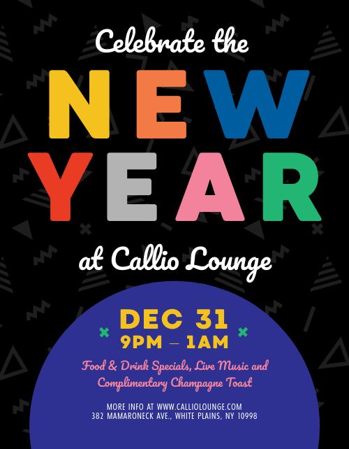 Colorful New Years Eve Flyer