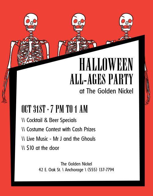 Halloween Skeleton Flyer