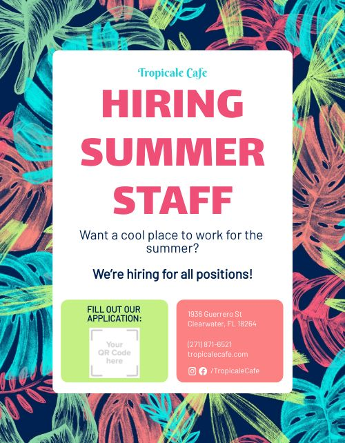 Summer Staff Sign