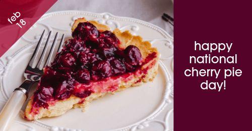 Cherry Pie Facebook Post