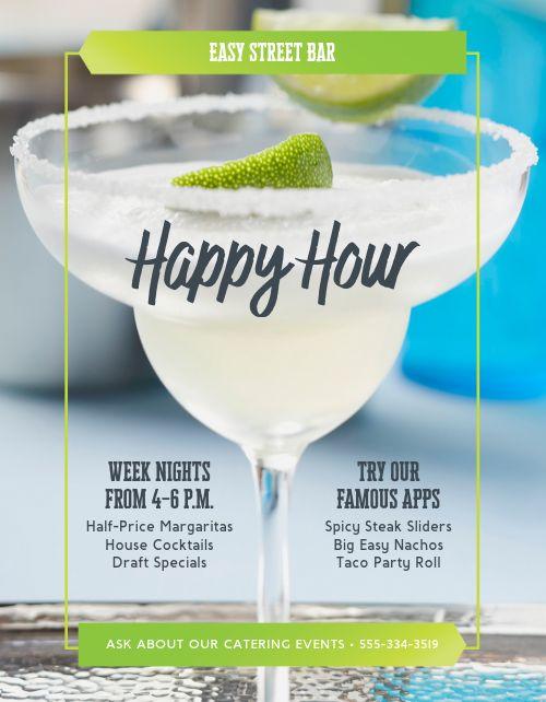 Happy Hour Margarita Flyer
