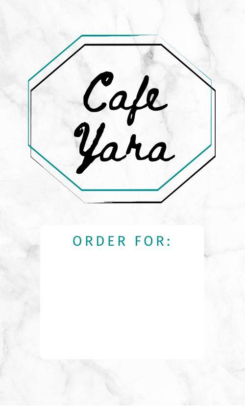 Cafe Order Label