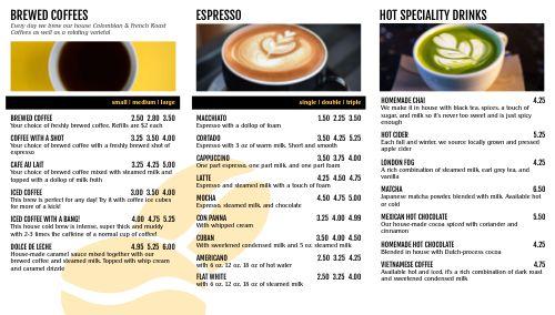 Coffee Digital Menu Board