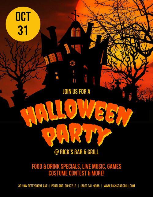 Halloween Haunted Party Flyer