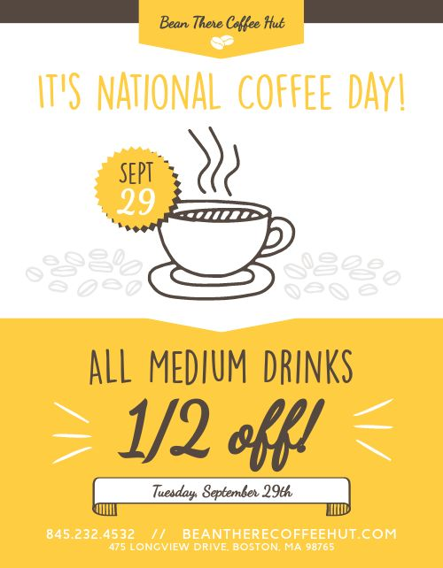 National Coffee Day Sign