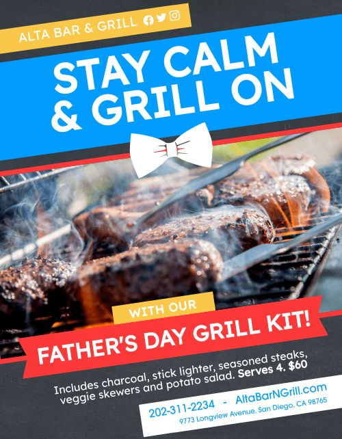 Fathers Day Grill Announcement