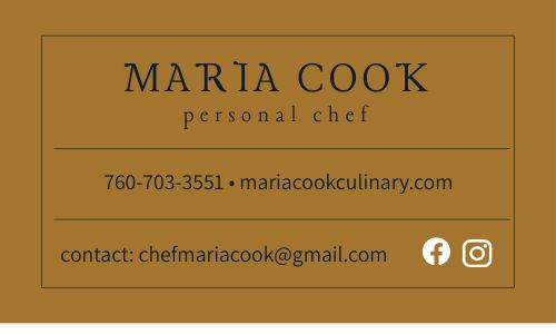Freelance Chef Business Card