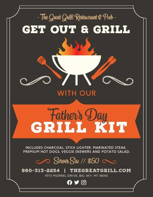 Grill Kit Fathers Sign