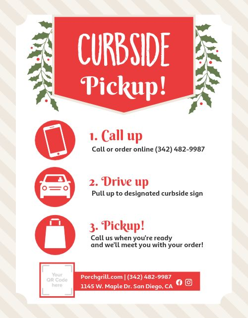 Curbside Pickup Signage